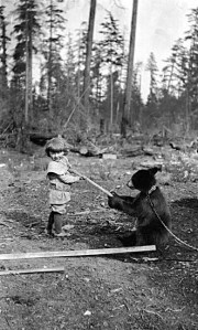 City of Vancouver Archives - Girl with bear 1909