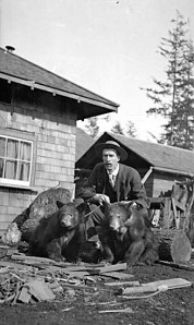 Bears as pets from City of Vancouver Archives