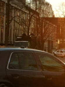Police with Downtown bear Vancouver