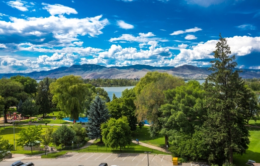 Beautiful view from Sandman Signature Kamloops Hotel