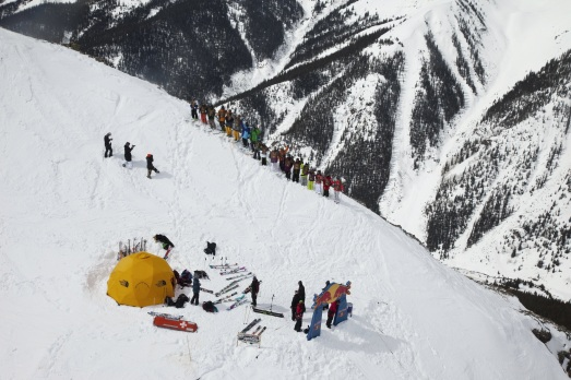Competitors prepare for their runs at Red Bull Cold Rush in Silverton, Colorado on March 6, 2012. Photographer Credit: Christian Pondella / Red Bull Content Pool