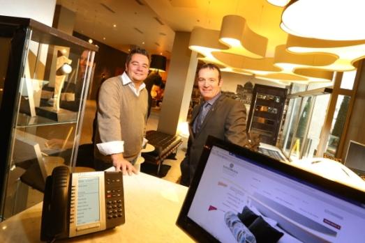 Sandman Hotel Group's Mitch Gaglardi (left) and Advantex's Stephen O'Connell (right)