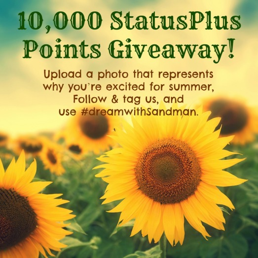 mobile app, StatusPlus points, contest, giveaway